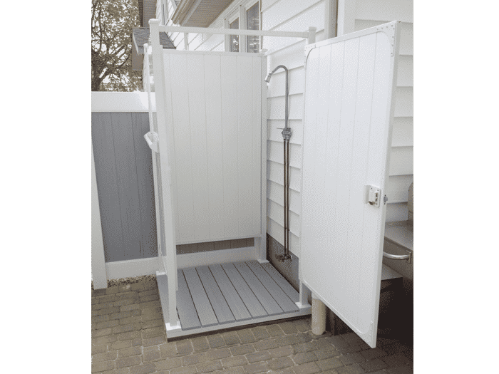 Outdoor Shower Ideas: Single Shower Stalls   OutdoorShowers.net |  OutdoorShowers.net